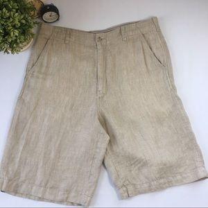 Men's Tommy Bahama 100% Linen Shorts size 34